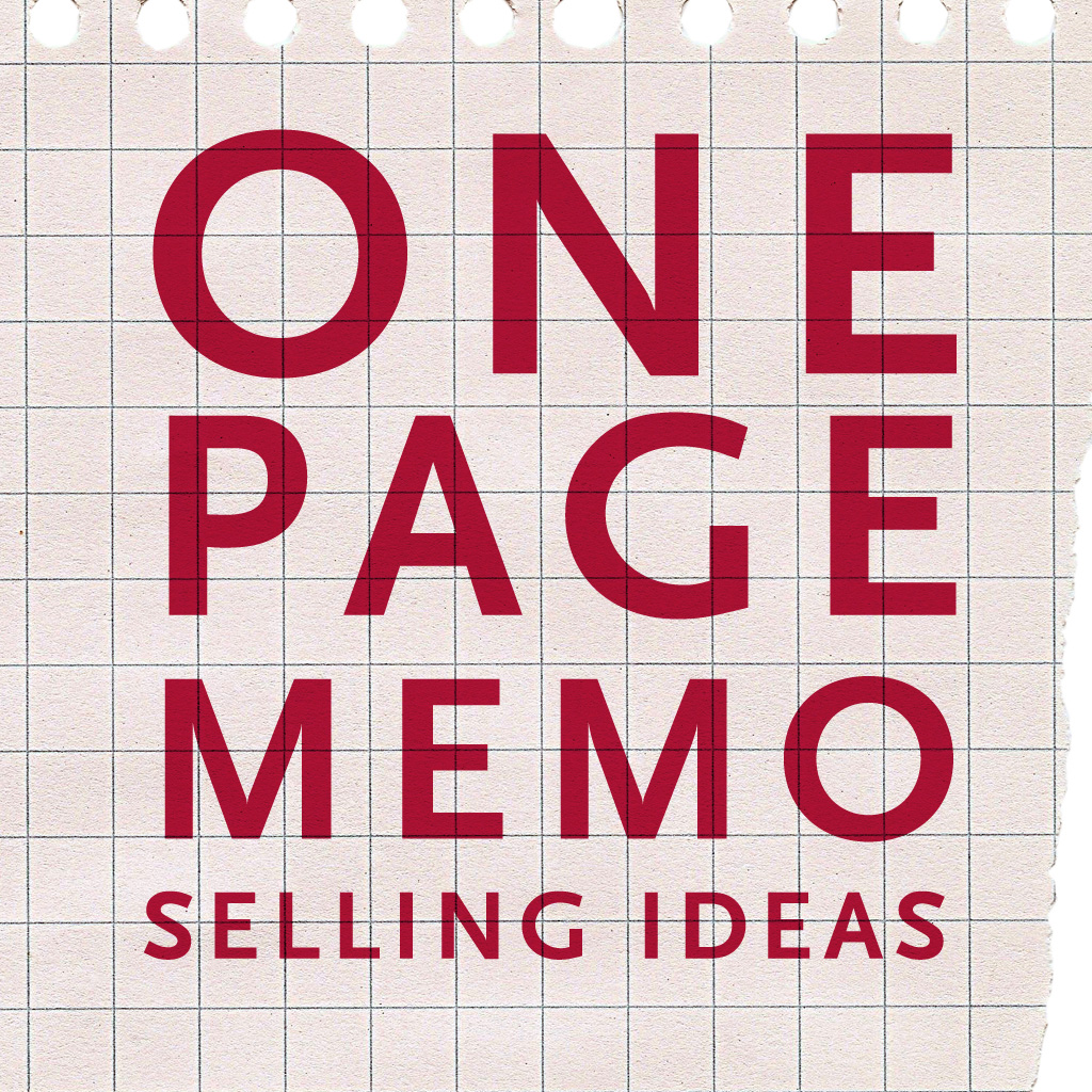 One Page Memo - Procter & Gamble - Selling Ideas